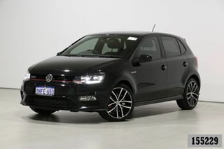 2017 Volkswagen Polo 6R MY17 GTi Black 7 Speed Auto Direct Shift Hatchback.