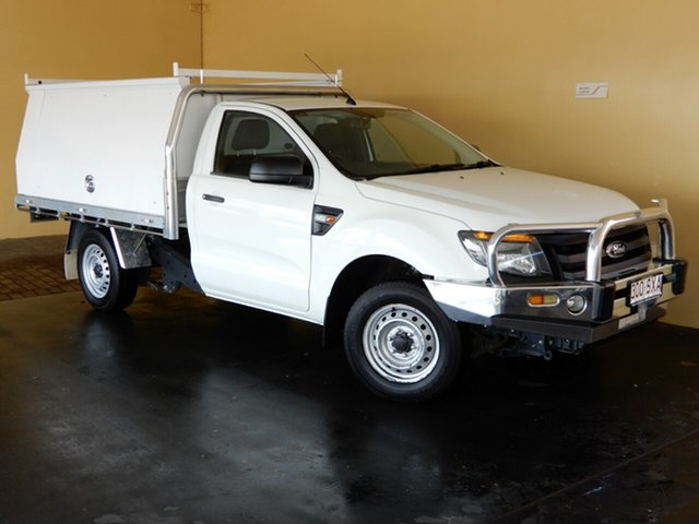 Used Ford Ranger PX XL 2.2 (4x2) Toowoomba, 2013 Ford Ranger PX XL 2.2 (4x2) White 6 Speed Manual Cab Chassis