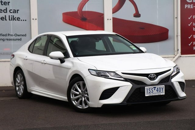 Pre-Owned Toyota Camry ASV70R Ascent Sport Ferntree Gully, 2020 Toyota Camry ASV70R Ascent Sport Glacier White 6 Speed Sports Automatic Sedan