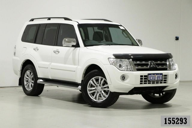 Used Mitsubishi Pajero NW MY14 Exceed LWB (4x4) Bentley, 2014 Mitsubishi Pajero NW MY14 Exceed LWB (4x4) White 5 Speed Auto Sports Mode Wagon
