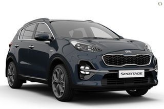 2020 Kia Sportage QL MY21 GT-Line AWD Blue 8 Speed Sports Automatic Wagon