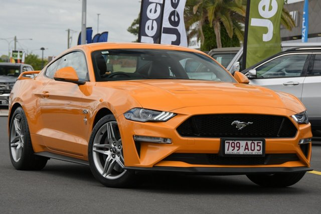 Used Ford Mustang FN 2018MY GT Fastback Aspley, 2018 Ford Mustang FN 2018MY GT Fastback Orange 6 Speed Manual Fastback
