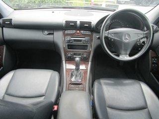 2004 Mercedes-Benz C-Class W203 MY2003 C200 Kompressor Elegance Black 5 Speed Sports Automatic Sedan