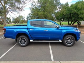 2020 Mitsubishi Triton MR MY21 GLS Double Cab Blue 6 Speed Sports Automatic Utility.