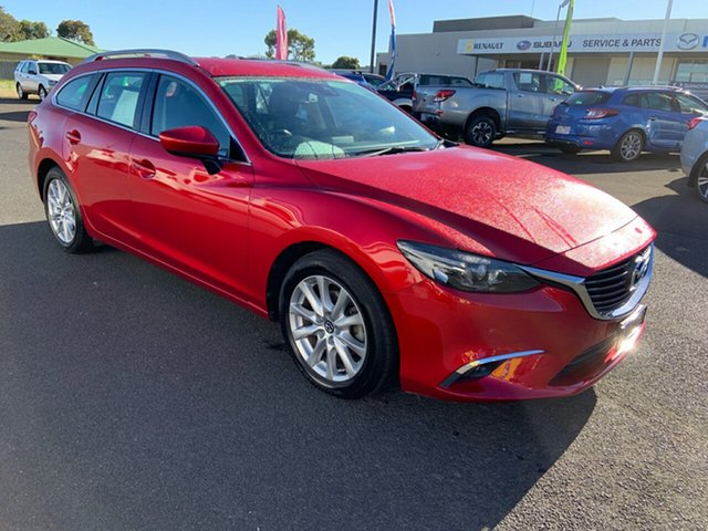 Used Mazda 6 GJ1031 Touring SKYACTIV-Drive Warrnambool East, 2014 Mazda 6 GJ1031 Touring SKYACTIV-Drive Red 6 Speed Sports Automatic Wagon