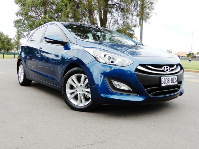 Used Hyundai i30 GD2 MY14 Trophy Glenelg, 2014 Hyundai i30 GD2 MY14 Trophy Midnight Blue 6 Speed Sports Automatic Hatchback