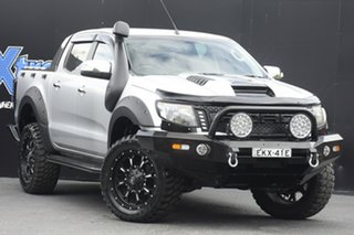 2011 Ford Ranger PX XLT Double Cab Silver 6 Speed Manual Utility.