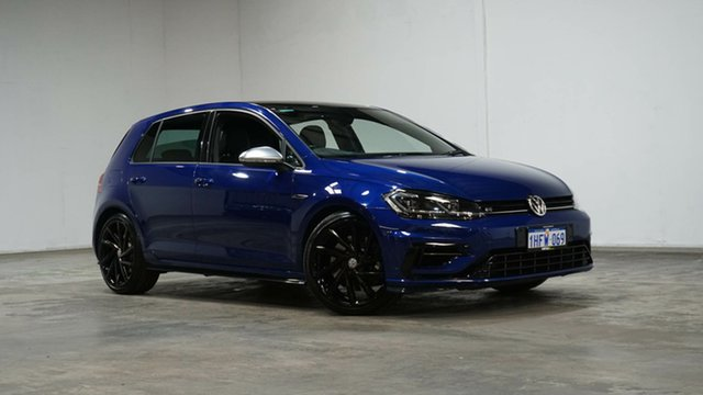 Used Volkswagen Golf 7.5 MY18 R DSG 4MOTION Welshpool, 2018 Volkswagen Golf 7.5 MY18 R DSG 4MOTION Blue 7 Speed Sports Automatic Dual Clutch Hatchback