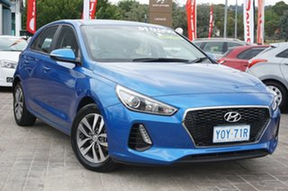 2017 Hyundai i30 PD MY18 Active Blue 6 Speed Manual Hatchback.