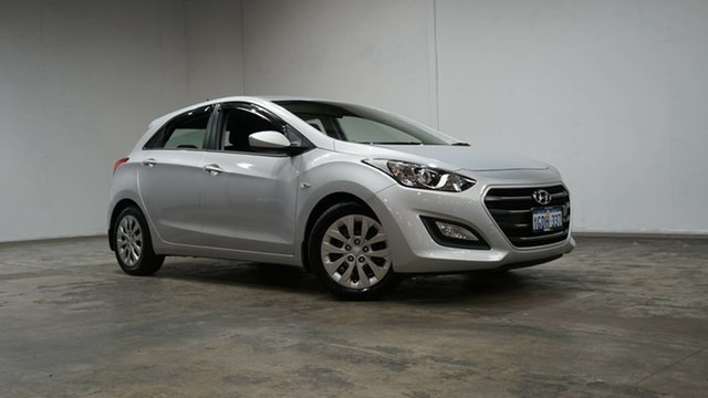Used Hyundai i30 GD4 Series II MY17 Active Welshpool, 2016 Hyundai i30 GD4 Series II MY17 Active Silver 6 Speed Sports Automatic Hatchback