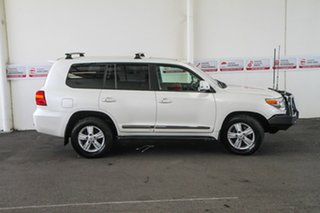 2014 Toyota Landcruiser VDJ200R MY13 Sahara Crystal Pearl 6 Speed Sports Automatic Wagon