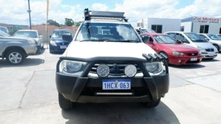 2010 Mitsubishi Triton MN MY10 GLX Double Cab White 5 Speed Manual Utility.