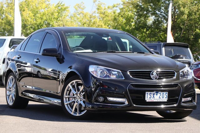 Used Holden Commodore VF MY14 SS V Redline Essendon Fields, 2014 Holden Commodore VF MY14 SS V Redline Black 6 Speed Sports Automatic Sedan