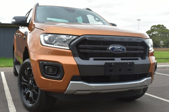 Used Ford Ranger PX MkIII 2019.75MY Wildtrak St Marys, 2019 Ford Ranger PX MkIII 2019.75MY Wildtrak Orange 10 Speed Sports Automatic Double Cab Pick Up
