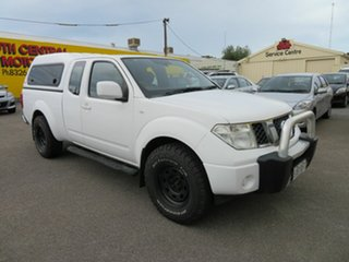 2012 Nissan Navara D40 MY12 RX (4x4) White 6 Speed Manual King Cab Chassis.