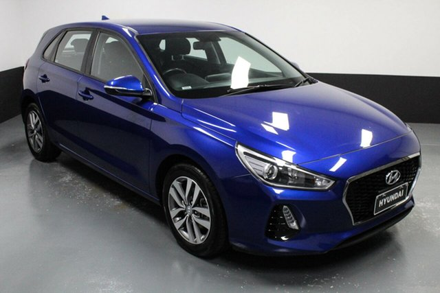 Used Hyundai i30 PD2 MY19 Active Hamilton, 2019 Hyundai i30 PD2 MY19 Active Blue 6 Speed Sports Automatic Hatchback