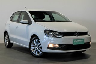 2015 Volkswagen Polo 6R MY16 81TSI Comfortline White 6 Speed Manual Hatchback.