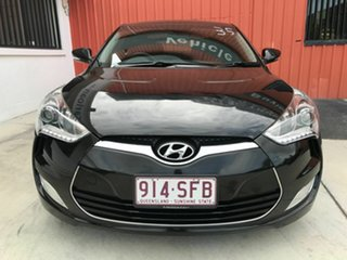2012 Hyundai Veloster FS + Coupe Black 6 Speed Manual Hatchback.