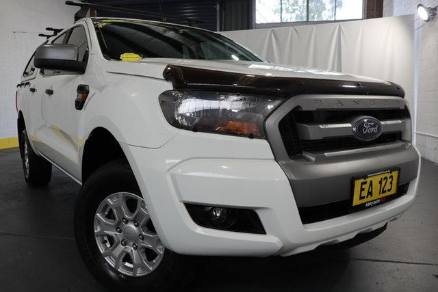 Used Ford Ranger PX MkII XLS Double Cab Castle Hill, 2016 Ford Ranger PX MkII XLS Double Cab White 6 Speed Sports Automatic Utility