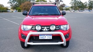 2013 Mitsubishi Triton MN MY13 GLX Double Cab Red 5 Speed Manual Utility.
