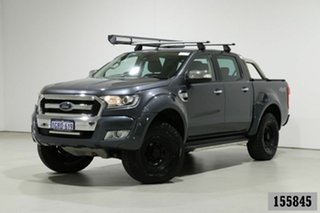 2015 Ford Ranger PX MkII XLT 3.2 (4x4) Grey 6 Speed Automatic Dual Cab Utility.