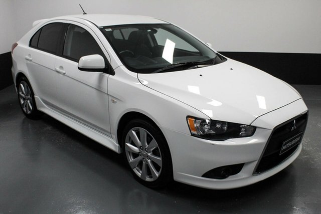 Used Mitsubishi Lancer CJ MY15 GSR Sportback Hamilton, 2014 Mitsubishi Lancer CJ MY15 GSR Sportback White 6 Speed Constant Variable Hatchback