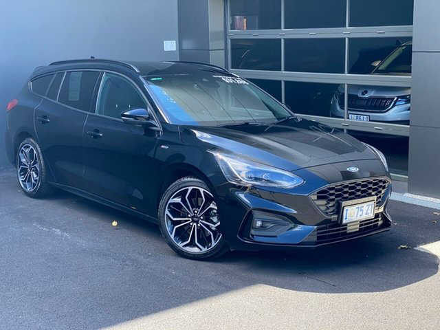 Used Ford Focus SA 2019.25MY ST-Line Hobart, 2019 Ford Focus SA 2019.25MY ST-Line Black 8 Speed Automatic Wagon