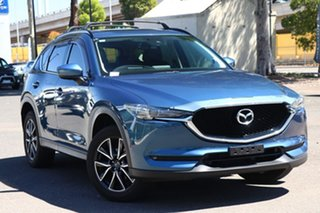 2017 Mazda CX-5 KF4WLA GT SKYACTIV-Drive i-ACTIV AWD Eternal Blue 6 Speed Sports Automatic Wagon.