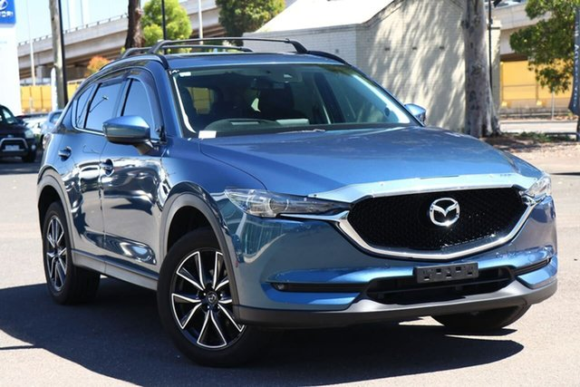 Used Mazda CX-5 KF4WLA GT SKYACTIV-Drive i-ACTIV AWD South Melbourne, 2017 Mazda CX-5 KF4WLA GT SKYACTIV-Drive i-ACTIV AWD Eternal Blue 6 Speed Sports Automatic Wagon