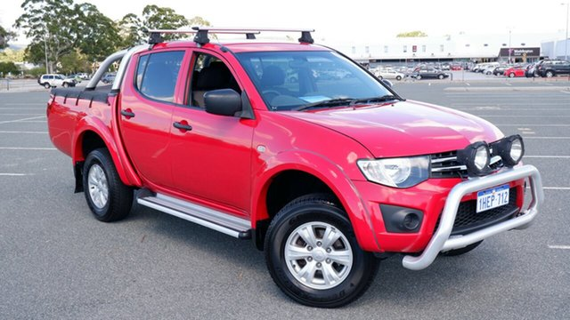 Used Mitsubishi Triton MN MY13 GLX Double Cab Maddington, 2013 Mitsubishi Triton MN MY13 GLX Double Cab Red 5 Speed Manual Utility