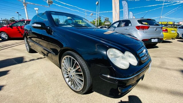 Used Mercedes-Benz CLK-Class A209 MY06 CLK350 Elegance Maidstone, 2005 Mercedes-Benz CLK-Class A209 MY06 CLK350 Elegance Black 7 Speed Sports Automatic Cabriolet