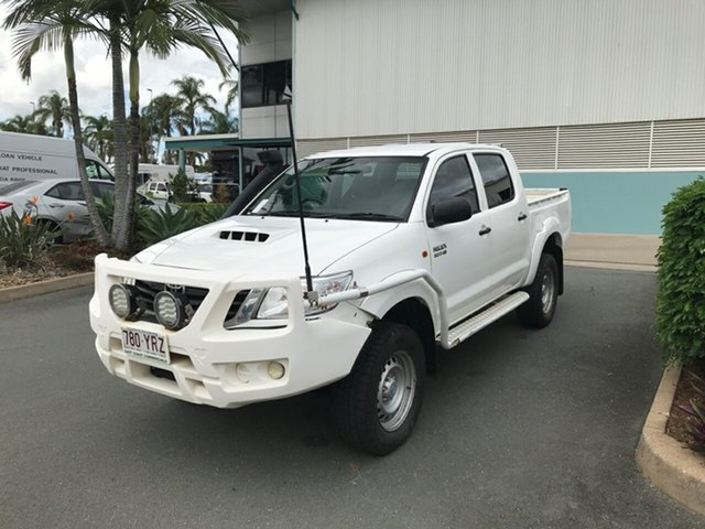 Used Toyota Hilux KUN26R MY12 SR Double Cab Acacia Ridge, 2013 Toyota Hilux KUN26R MY12 SR Double Cab Glacier 4 speed Automatic Utility