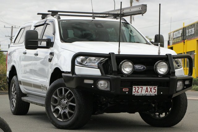 Used Ford Ranger PX MkII 2018.00MY FX4 Double Cab Rocklea, 2017 Ford Ranger PX MkII 2018.00MY FX4 Double Cab Frozen White 6 Speed Sports Automatic Utility