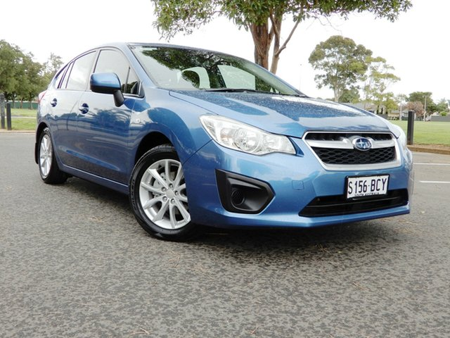 Used Subaru Impreza G4 MY14 2.0i Lineartronic AWD Glenelg, 2014 Subaru Impreza G4 MY14 2.0i Lineartronic AWD Quartz Blue 6 Speed Constant Variable Hatchback