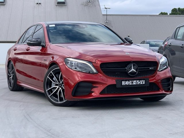 Used Mercedes-Benz C-Class W205 809MY C43 AMG 9G-Tronic 4MATIC Liverpool, 2019 Mercedes-Benz C-Class W205 809MY C43 AMG 9G-Tronic 4MATIC Red 9 Speed Sports Automatic Sedan
