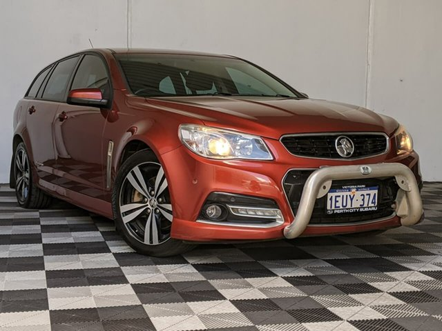 Used Holden Commodore VF MY15 SS Sportwagon Storm Victoria Park, 2015 Holden Commodore VF MY15 SS Sportwagon Storm Red 6 Speed Sports Automatic Wagon