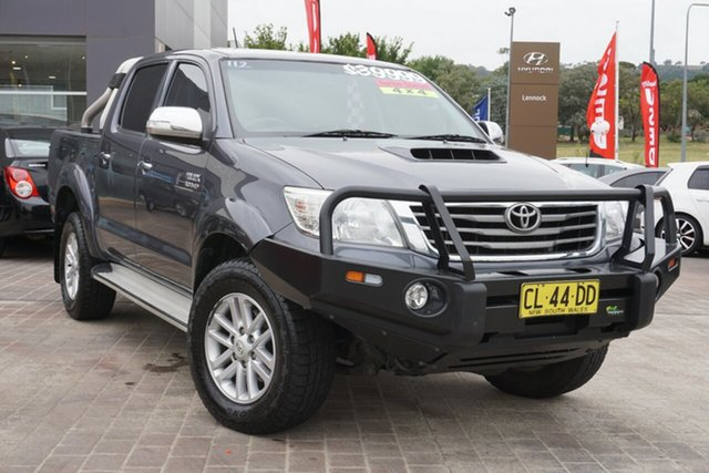 Used Toyota Hilux KUN26R MY14 SR5 Double Cab Phillip, 2013 Toyota Hilux KUN26R MY14 SR5 Double Cab Grey 5 Speed Automatic Utility