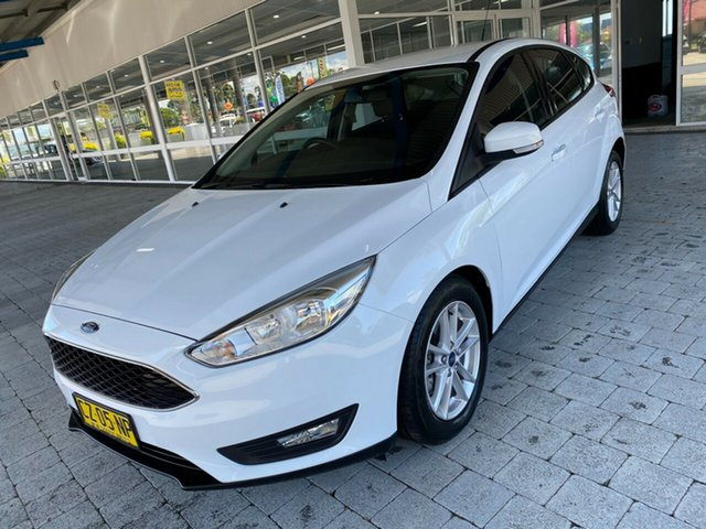 Used Ford Focus LZ Trend Taree, 2018 Ford Focus LZ Trend White 6 Speed Automatic Hatchback
