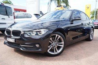 2016 BMW 320d F30 LCI Sport Line Black 8 Speed Automatic Sedan.