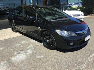 2009 Honda Civic MY09 VTi-L Black 5 Speed Automatic Sedan.
