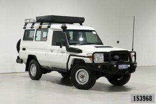 2011 Toyota Landcruiser VDJ78R 09 Upgrade Workmate (4x4) 3 Seat White 5 Speed Manual TroopCarrier.