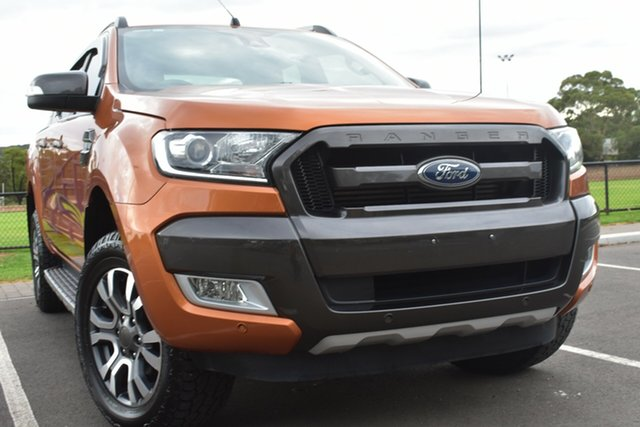 Used Ford Ranger PX MkII Wildtrak Double Cab St Marys, 2016 Ford Ranger PX MkII Wildtrak Double Cab Orange 6 Speed Sports Automatic Utility