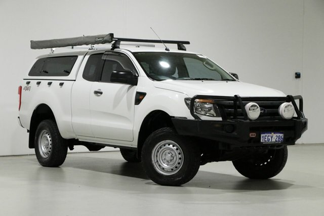 Used Ford Ranger PX XL 3.2 (4x4) Bentley, 2013 Ford Ranger PX XL 3.2 (4x4) White 6 Speed Manual Super Cab Utility