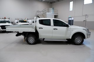 2017 Mitsubishi Triton MQ MY17 GLX Double Cab White 6 Speed Manual Cab Chassis