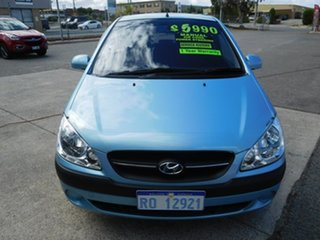 2008 Hyundai Getz TB MY09 SX Blue 5 Speed Manual Hatchback.