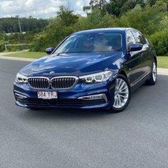 2019 BMW 5 Series G30 520i Steptronic Luxury Line Blue 8 Speed Sports Automatic Sedan.