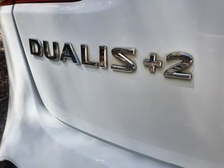 2012 Nissan Dualis J10 Series 3 +2 Ti White Constant Variable Hatchback