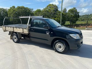 2009 Toyota Hilux TGN16R MY10 Workmate 4x2 Black 5 Speed Manual Cab Chassis.
