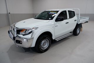 2017 Mitsubishi Triton MQ MY17 GLX Double Cab White 6 Speed Manual Cab Chassis.