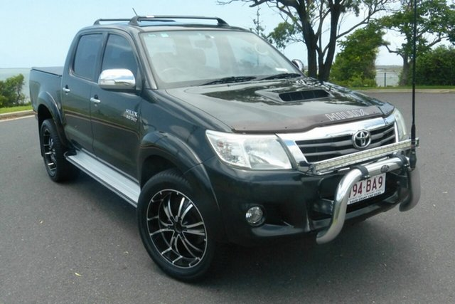 Used Toyota Hilux KUN26R MY12 SR5 Double Cab Gladstone, 2012 Toyota Hilux KUN26R MY12 SR5 Double Cab Black 4 Speed Automatic Utility